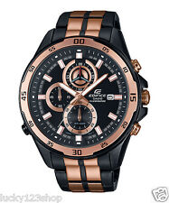 EFR-547BKG-1A Black Edifice Casio Men's Watches Analog 100m Steel Band New