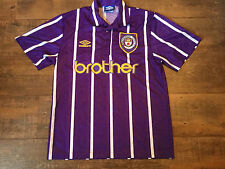 1992 1994 Manchester City Away Football Shirt Adults Medium