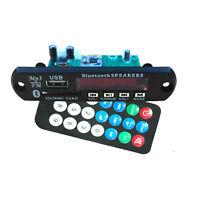 DC 12v Digital LED Bluetooth mp3 Decoder Board FM Radio Usb Sd AUX + Remote wire