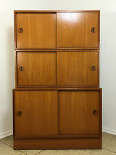 70er Jahre Teak Regal Wall Unit Schrank Cabinet HG Furniture Danish Design 60er