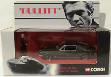 BULLITT : 1968 MUSTANG DIECAST MODEL WITH LT. FRANK BULLITT RESIN FIGURE