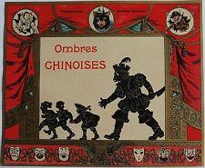 OMBRES CHINOISES . LE PETIT POUCET. Chromolithographie originale pour boite de j