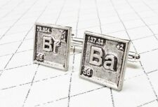 Br Ba Cuff Links, chemical symbols, inspired by Breaking Bad