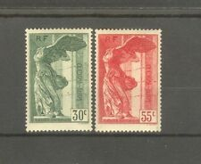 "FRANCE STAMP TIMBRE N° 354/55 ""VICTOIRE SAMOTHRACE DU LOUVRE 1937"" NEUFS xx LUXE"