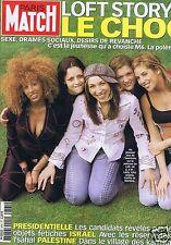 Couverture magazine,Coverage Paris Match 25/04/02 Loft Story 2 Le Choc