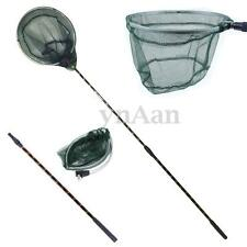 Folding Fishing Shrimp Net Extendable Telescopic Landing Alloy Mesh Pole Handle