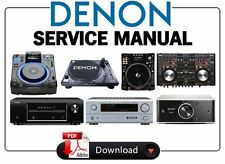 Denon Audio Video Receiver Amplifier DJ Gear Service Manual. Choose your model!