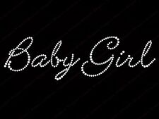 "Diamonte Hotfix Pregnancy Transfers Rhinestones iron On Motif ""Baby Girl-1"" - S1"