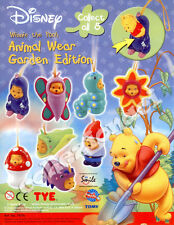 Disney Winnie the Pooh Animal Wear Part10 Garden Edition TOMY 8 PEZZI