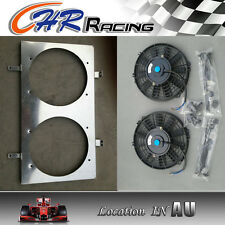 52mm For NISSAN SILVIA S13 CA18DET Turbo aluminum radiator shroud and fans