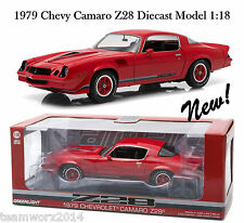 Greenlight 1979 Chevy Camaro Z/28 Red with Black Stripes Diecast Car 1:18 12901
