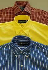 Polo Ralph Lauren Regent Custom Slim Fit Button Down Dress Shirt Lot 3 Small