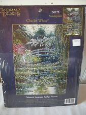 Candamar Designs Needlepoint Tapestry Kit Unused Monet's Japanese Bridge