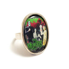 The MUNSTERS family TV gothic ring silver adjustable vampire horror goth