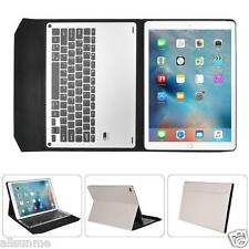 For iPad Pro 9.7 / 12.9inch  Aluminum Bluetooth Keyboard with Leather Case Cover