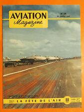 AVIATION magazine N° 29 du 1/7/1951- Les Vampires de la 2ème Escadre de  Chasse