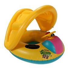 Inflatable Baby Float Seat Boat Ring Adjustable Sunshade Swim Pool Raft Tube