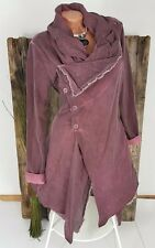 NEU LINDSAY ITALY VINTAGE SWEAT JACKET WICKEL BLAZER WASHED BATIK BERRY 38 40 42