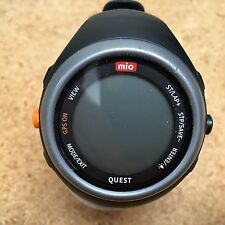 Mio Quest LCD Digital GPS Heart Rate Monitor Quartz Hours~Watch Only~Untested