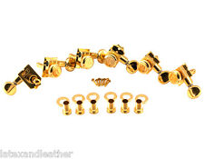 Kluson Revolution H-Mount LOCKING 6 In line Tuners Gold Fits Fender KTL-3805GL