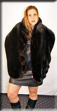 New Reversible Black Mink and Black Persian Lamb Fur Stole Efurs4less