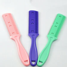 Professional Hairdressing Razor Hair Cutting Thinning Comb Double Razor Blade