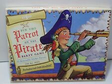 eeBoo Pin the Parrot on the Pirate Party Game Complete EUC Boxed