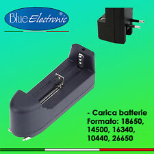 Carica batterie per batterie 18650/14500/16340/10440/26650 Charge battery -ITALY