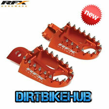 RFX Wide Foot Pegs KTM SX SXF EXC 125 200 250 350 450 525 00-15 Footrests NEW