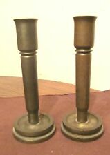 vintage handmade brass bronze trench art World War2 military shell candle holder