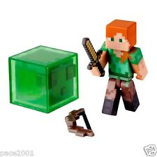 Jazwares Series 3 Minecraft Alex Action Figure with Slime Block, Sword and Bow