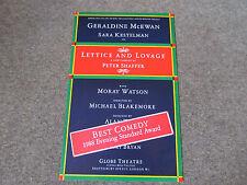 Gerladine McEWAN in LETTICE & LOVAGE Best Comedy 1988 GLOBE Theatre Poster