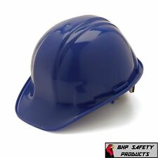 PYRAMEX BLUE SAFETY HARD HAT 4-POINT RATCHET SUSPENSION HP14160 CONSTRUCTION