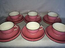 **RARE** Minton 6 x Pink Cups, Saucers & Side Plates (Trios)
