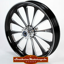 Southern Black Legend Front 21X3.5 Custom Wheel Harley Touring Dual W/O ABS