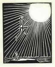 Fuego al alza las cortinas de sueca-Frans Masereel 3 original madera cortes 1927