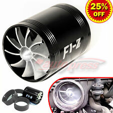 For MITSUBISHI Supercharger AIR INTAKE TURBO DUAL Gas Fuel Saver Fan BK 2.5-3.0""