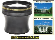 For Panasonic Lumix DMC-G5K DMC-G5 Hi Def Xtreme 4.7x Telephoto Lens