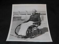 One of a Kind Original Wire Photo President Eisenhower in a Wheel Chair RARE JB8