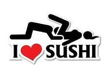 I love sushi sticker quality 7 year vinyl water and fade proof jdm funny