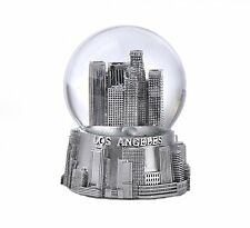 LOS ANGELES SILVER SNOWDOME SNOW GLOBE-NEW