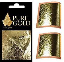 10 x 24K  genuine Gold Leaf Sheets. For Art, Crafts, Design Gilding