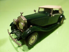 WESTERN MODELS ROLLS ROYCE CONVERTIBLE CLOSED TOP - GREEN 1:43 - VERY GOOD