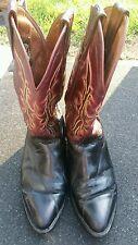 Men's Burgundy Black EEL Dos de Oro Leather Cowboy Boots. SIZE 6.5 US.