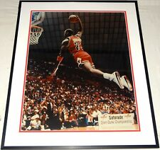 MICHAEL JORDAN BULLS HAND SIGNED AUTOGRAPHED CUSTOM FRAMED16X20 PHOTO! W/PROOF