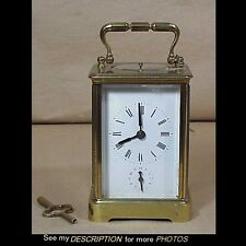 Antique 19th C French Aiguilles Brass Repeating Carriage Clock 2475