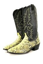 mens black PYTHON SNAKESKIN BOOTS cowboy western leather rodeo 10.5 D M
