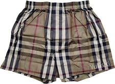 Burberry Licensed in Japan Camel Large Tartan Underwear Boxer Box Set-L Size
