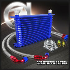 Engine Transmission Oil Cooler 15-Row+Silver M20 Filter Adaptor+Hose