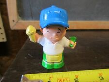 Fisher Price Little People Fun Park Amusement Circus Vendor Ticket booth man ice